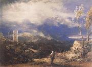 Samuel Palmer Christian Descending into the Valley of Humiliation oil painting picture wholesale